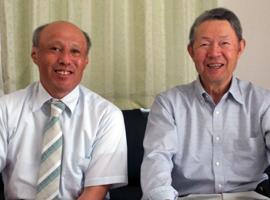 左:國枝 伸介 代表取締役社長 右:伊東 安雄 取締役会長(顧問)